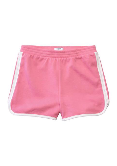 Crown & Ivy™ Girls 7-16 Match Back Shorts