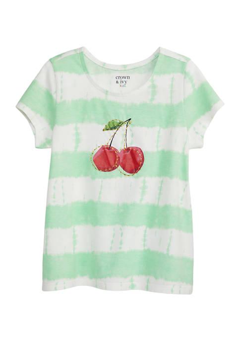 Girls 7-16 Short Sleeve Tie Dye Top