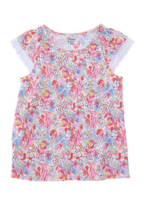 Crown & Ivy™ Girls 7-16 Mixed Print Knit