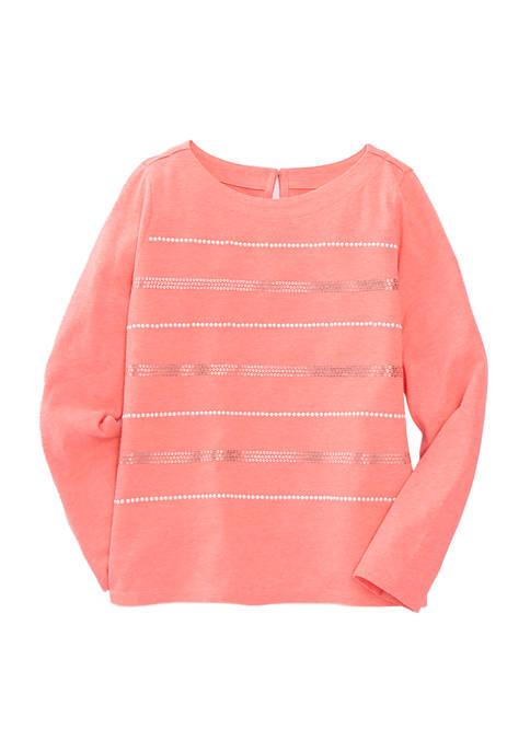 Crown & Ivy™ Girls 7-16 Long Sleeve Stripe