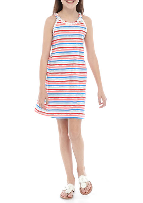 Girls 7-16 Knit Halter Dress