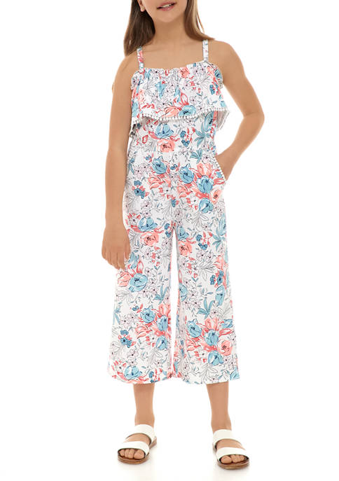 Crown & Ivy™ Girls 7-16 Knit Jumpsuit