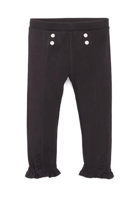 Girls 4-6x Button Front Pants