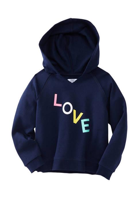 Crown & Ivy™ Girls 4-6x Hooded Graphic Sweatshirt