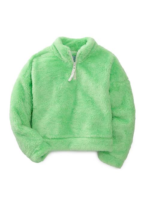 Girls 4-6x  1/4 Zip Mock Neck Pullover