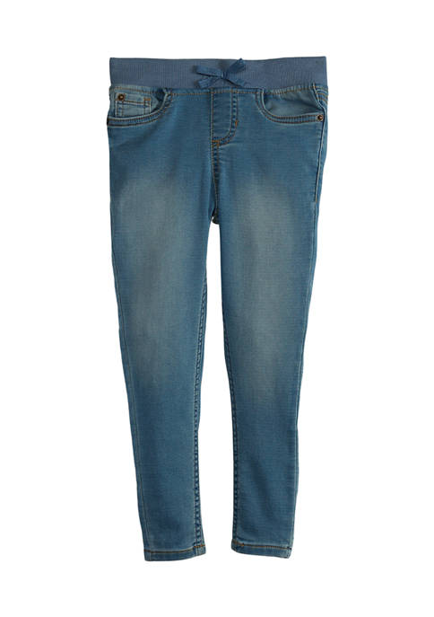 Crown & Ivy™ Girls 4-6x Ribbed Waist Jeggings
