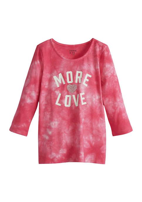 Girls 4-6x 3/4 Sleeve Graphic T-Shirt