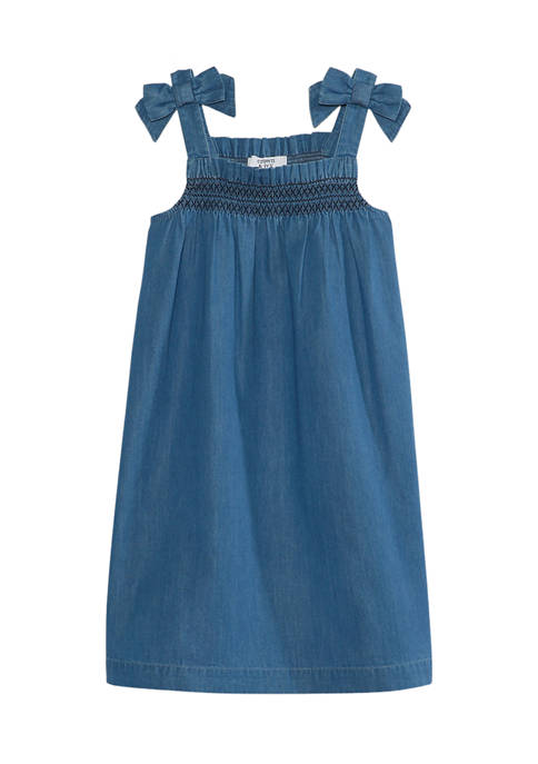 Crown & Ivy™ Girls 4-6x Bow Shoulder Dress