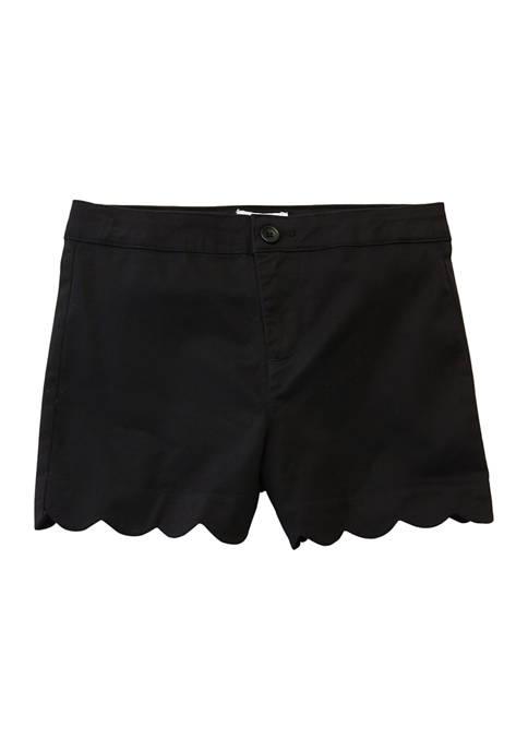 Crown & Ivy™ Girls 4-6x Solid Twill Shorts