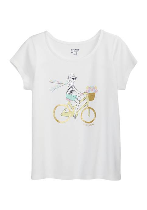 Girls 4-6x  Short Sleeve Graphic Top