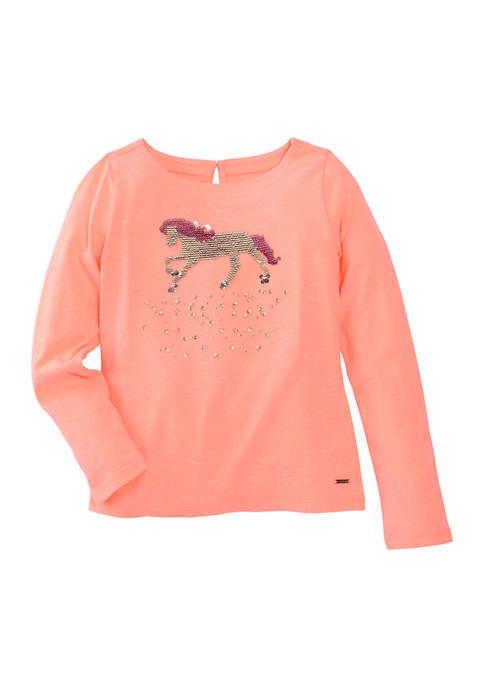 Girls 4-6x  Long Sleeve Graphic T-Shirt