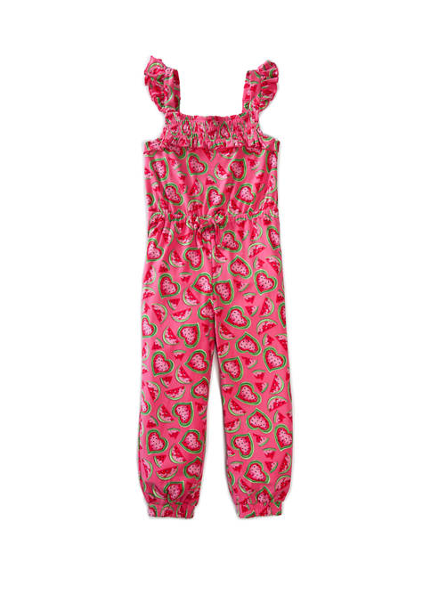 Girls 4-6x Smocked Jumpsuit