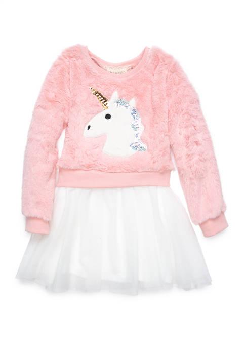 btween Girls 4-6x Animal Tulle Dress