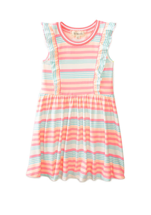 btween Girls 4-6x Sleeveless Flutter Front Promo Dress