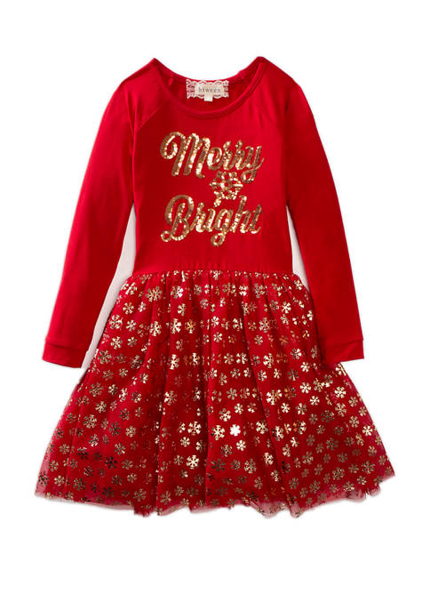 btween Girls 7-16 Knit Dress with Sparkle Tutu