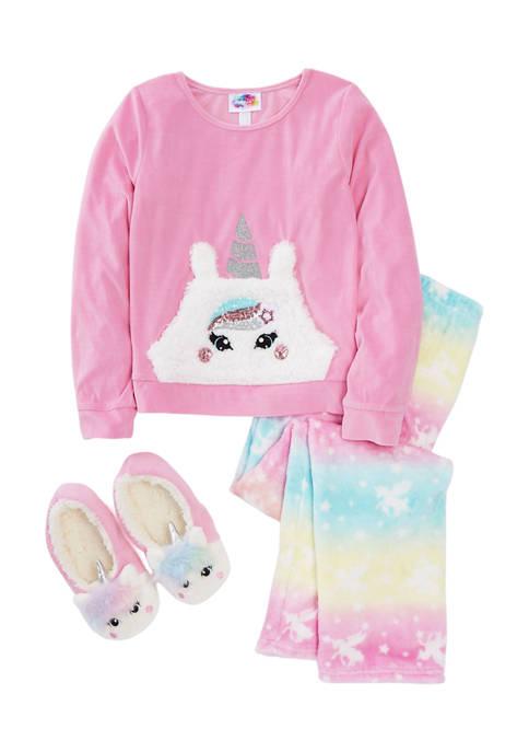 btween Girls 7-16 Unicorn Pocket Pajama Set