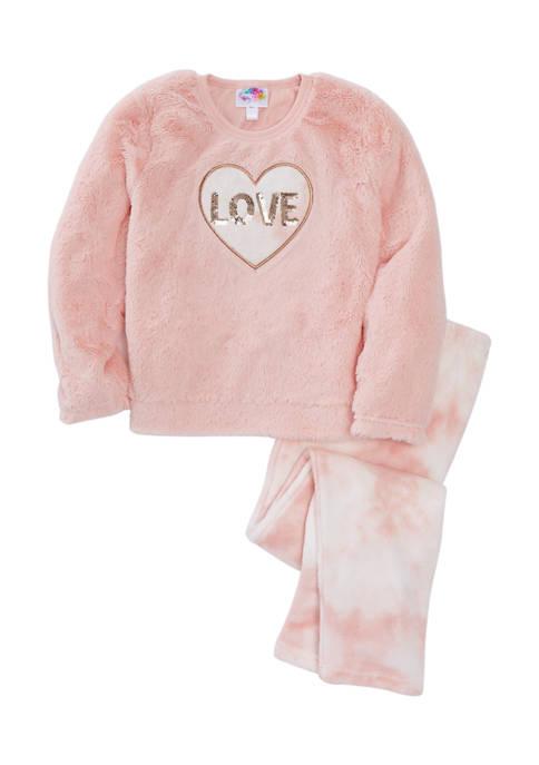 btween Girls 7-16 Sequin Love Graphic Tie Dye
