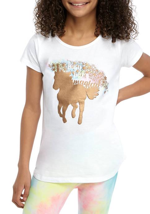 Girls 7-16 Keyhole Back Graphic T-Shirt