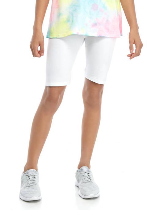 Girls 7-16 Solid Bike Shorts