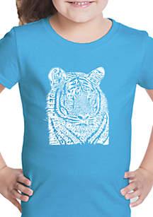 LA Pop Art Girls 7-16 Word Art T Shirt - Big Cats