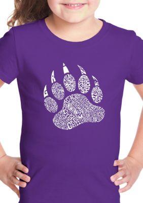 La Pop Art Girls Girls 7-16 Word Art Graphic T-Shirt - Types Of Bears
