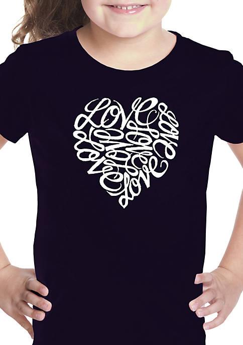 Girls 7-16 Word Art T Shirt - Love