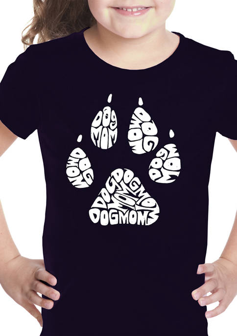 Girls 7-16 Word Art T-shirt - Dog Mom