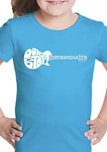 LA Pop Art Girls 7-16 Word Art T Shirt - Don't Stop Believin'