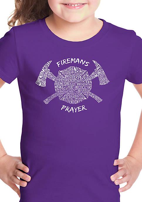 Girls 7-16 Word Art T Shirt- Firemans Prayer