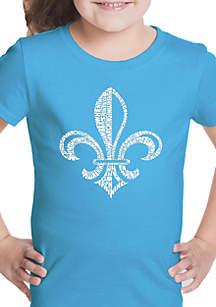 LA Pop Art Girls 7-16 Word Art T Shirt - Lyrics to When the Saints Go Marching In