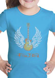 LA Pop Art Girls 7-16 Word Art T Shirt - Lyrics to Freebird