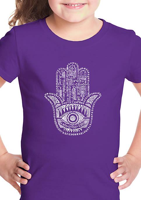Girls 7-16 Word Art Graphic T-Shirt - Hamsa