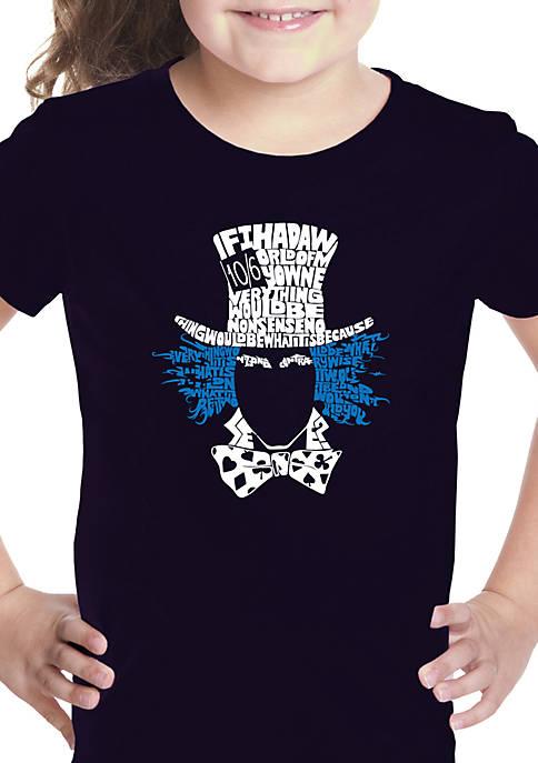 Girls 7-16 Word Art T Shirt - The Mad Hatter