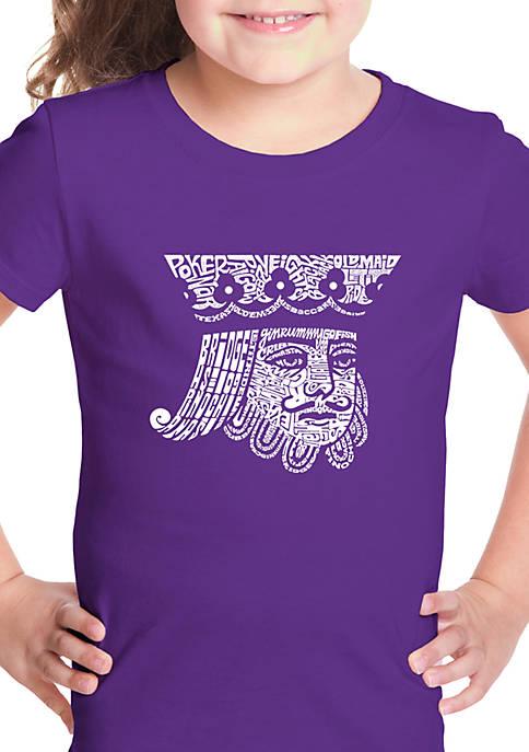 Girls 7-16 Word Art Graphic T-Shirt - King of Spades