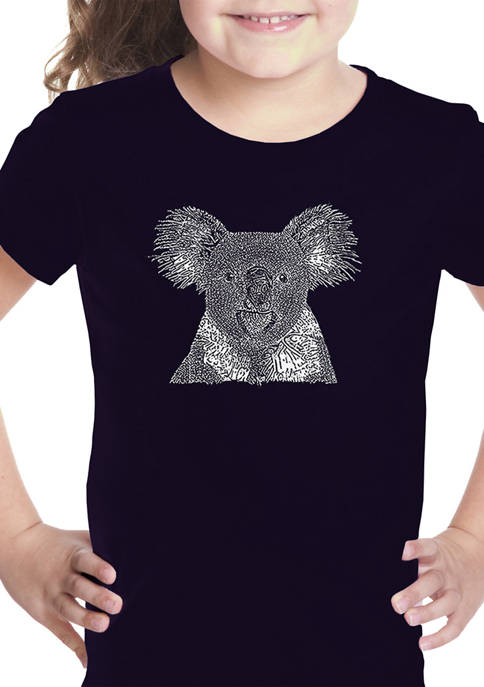 Girls 7-16 Word Art Graphic T-Shirt - Koala
