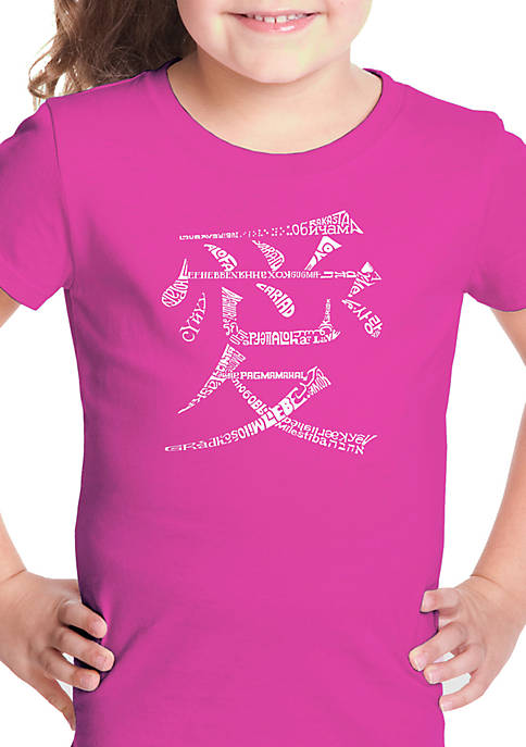 Girls 7-16 Word Art T Shirt - The Word Love in 44 Languages
