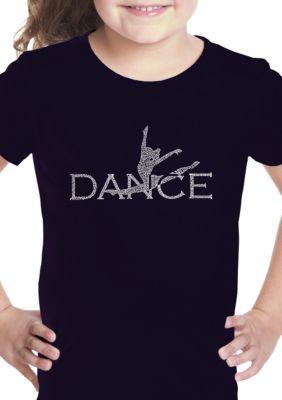 La Pop Art Girls Girls 7-16 Word Art Graphic T-Shirt - Dancer