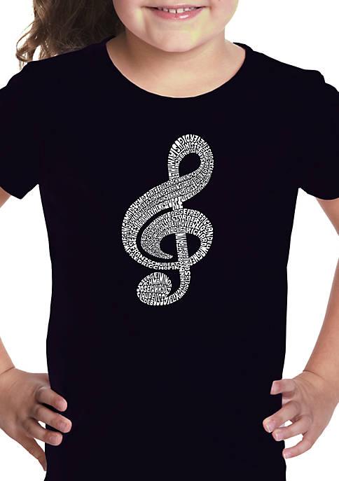 Girls 7-16 Word Art Graphic T-Shirt - Music Note