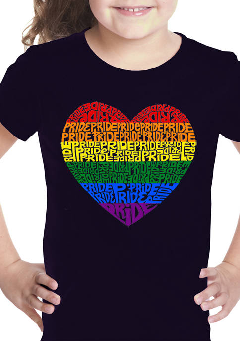 Girls 7-16 Word Art Graphic T-Shirt - Pride Heart