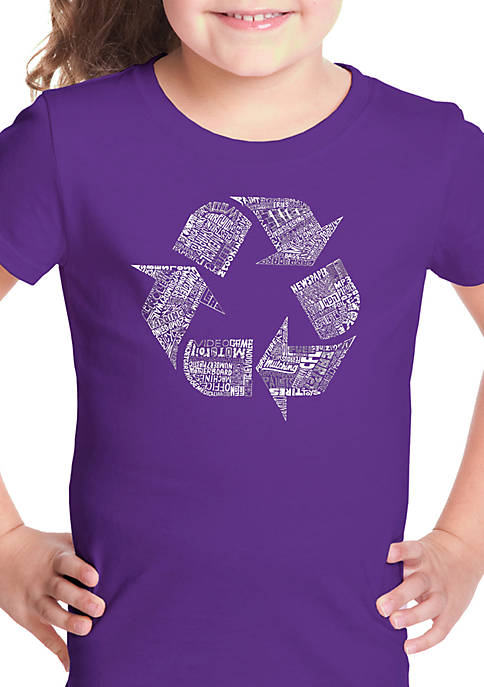 Girls 7-16 Word Art T Shirt - 86 Recyclable Products