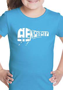 LA Pop Art Girls 7-16 Word Art T Shirt - NY Subway
