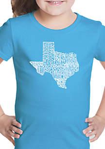 LA Pop Art Girls 7-16 Word Art T Shirt - The Great State of Texas