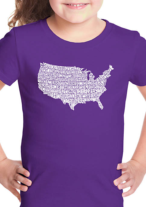 Girls 7-16 Word Art Graphic T-Shirt - The Star Spangled Banner