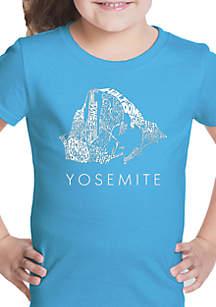 LA Pop Art Girls 7-16 Word Art T Shirt - Yosemite
