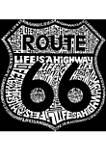 Girls 7-16 Word Art Long Sleeve Graphic T-Shirt - Route 66 - Life is a Highway
