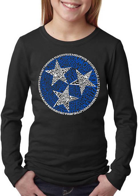 Girls 7-16 Word Art Long Sleeve T-Shirt - Tennessee Tristar