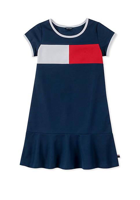 Girls 7-16 Piqué Flag Dress