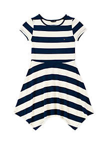 Tommy Hilfiger Girls 7-16 Yarn Dyed Handkerchief Dress