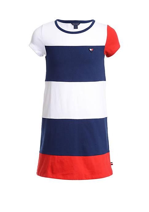 Girls 7-16 Color Block Jersey Dress