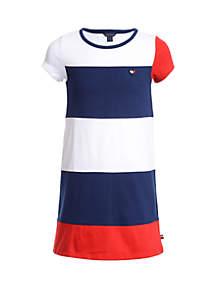 Tommy Hilfiger Girls 7-16 Color Block Jersey Dress